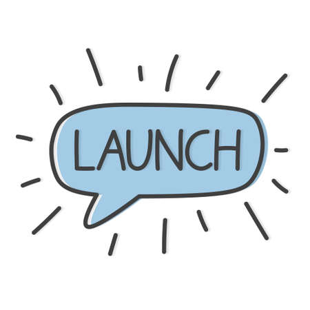 launch word concept - vector illustration