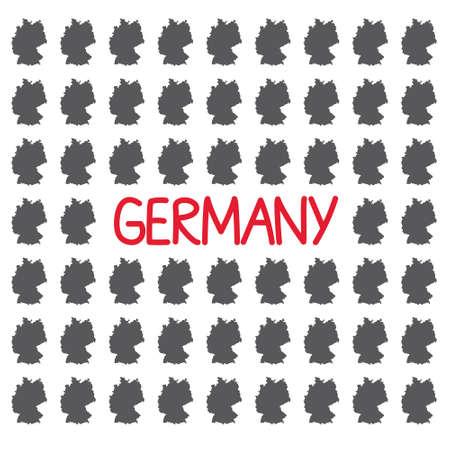 Germany map pattern- vector illustration