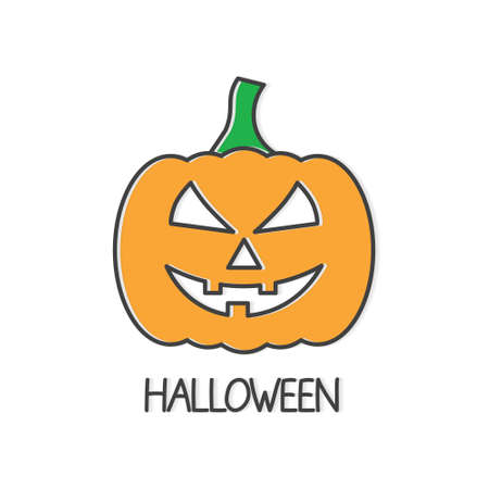 pumkin halloween Jack-o'-lantern icon - vector illustration 向量圖像