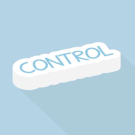 control, management concept - vector illustration