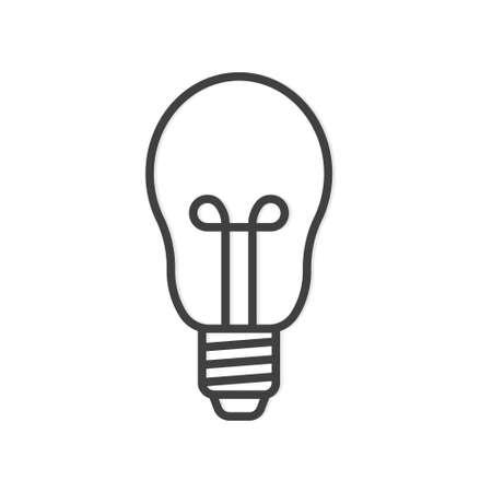 bulb outline icon - vector illustration