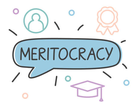 meritocracy word concept- vector illustration