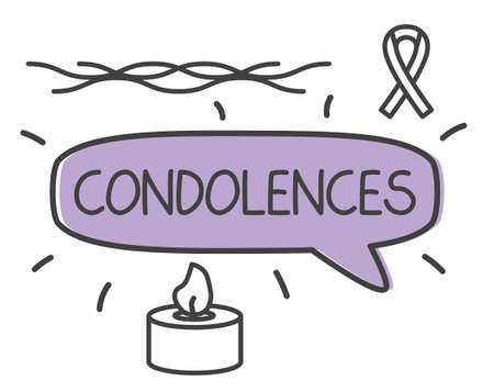 condolence word concept- vector illustration