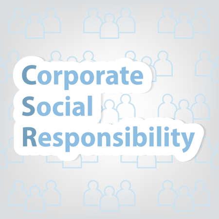 CSR; Corporate Social Responsibility concept - vector illustration