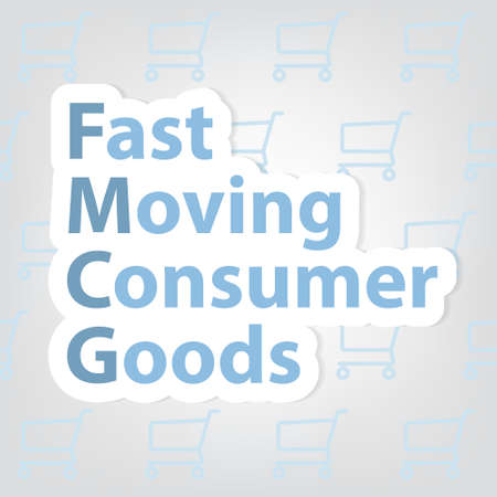 FMCG Fast Moving Consumer Goods concept - vector illustration