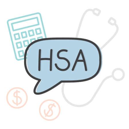 HSA (health savings account) medical concept- vector illustration Ilustracja