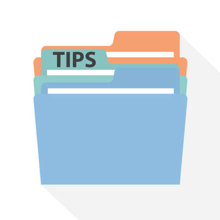 folder with tips ideas - vector illustration