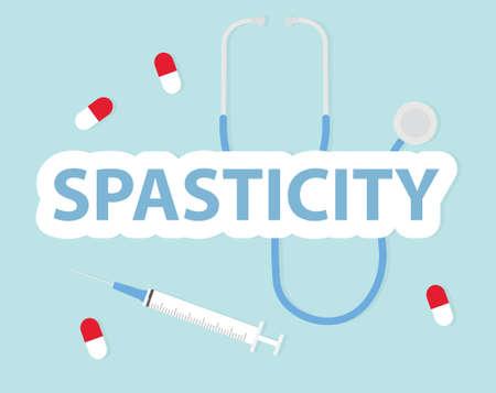 Spasticity word concept- vector illustration Ilustracja