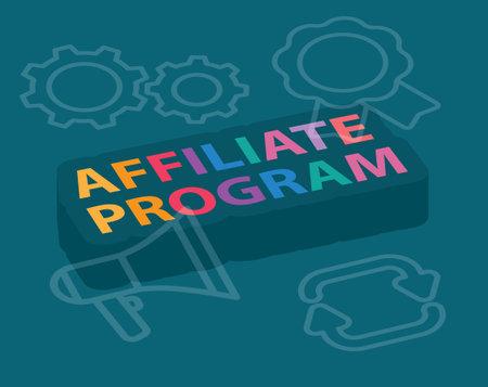 affiliate program concept - vector illustration