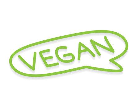 vegan symbol icon - vector illustration