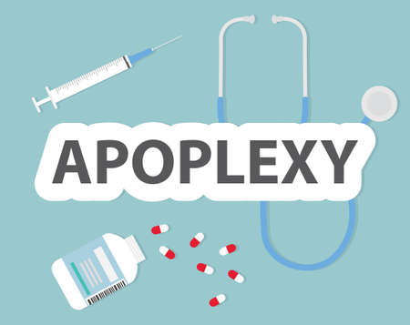 apoplexy medical concept - vector illustration