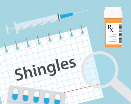shingles disease medical concept- vector illustration