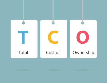 TCO Total Cost of Ownership business concept - vector illustration