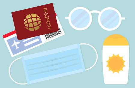 summer vacation travel - vector illustration