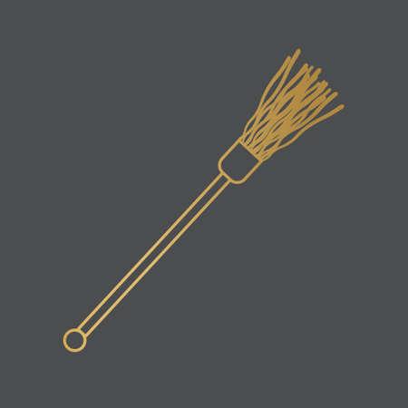 golden holy water sprinkler icon- vector illustration