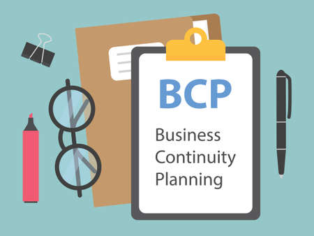 BCP Business Continuity Planning concept vector illustration