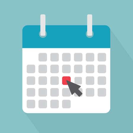 marking a date on the calendar, event reminder notification vector illustration Ilustración de vector