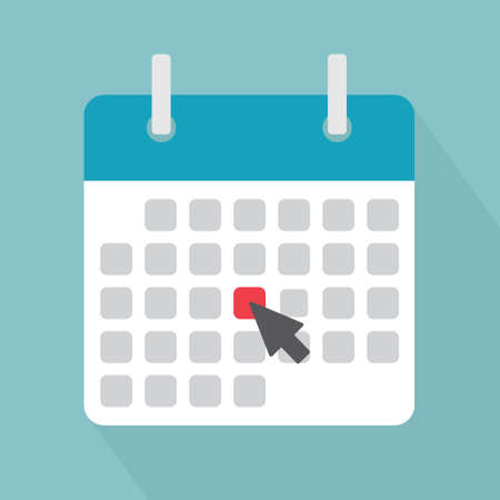 marking a date on the calendar, event reminder notification vector illustration