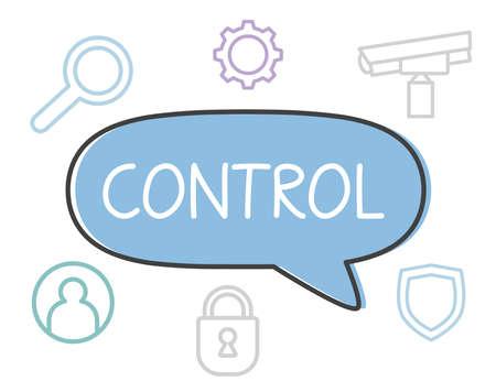 control written in speech bubble- vector illustration