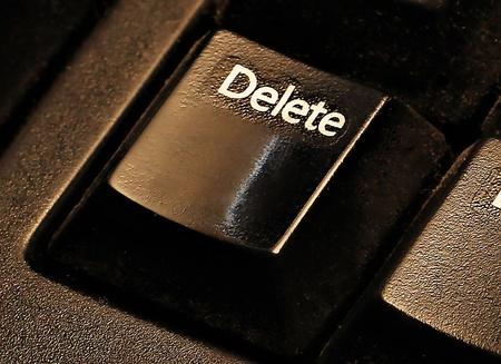 delete button on keyboard