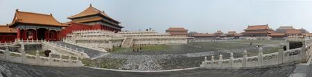 panning shot: panning shot made in a forbidden city  Beijing  China