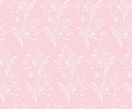 Floral seamless pattern. Flowery tile for fabric and paper. Fashionable design for textiles, papers and wallpapers. Pink background