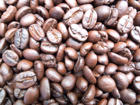 spreaded: Roasted coffee bean spreaded in a basket  Stock Photo