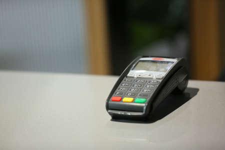 credit card reader with copy space