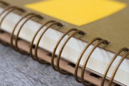 guidebook: Ring Binder notebook on wooden.