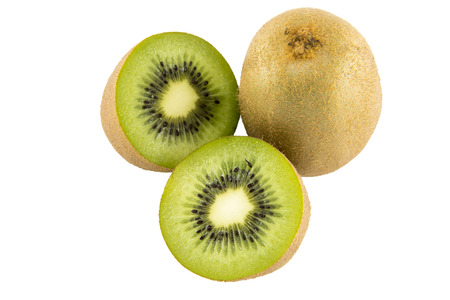 wiki: wiki fruit closeup isolated on white background