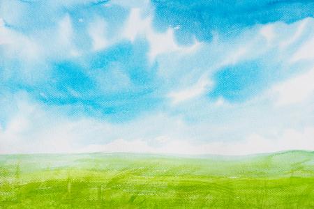 verde: paisajes pintura de la acuarela
