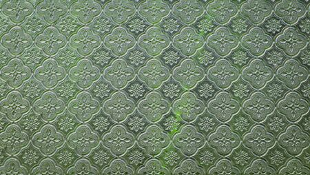 antique background: Green mirror abstract textured background Stock Photo