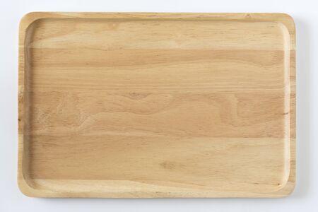 Bandeja de madera vista desde arriba