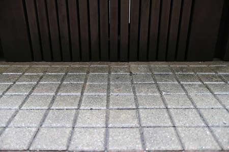 Gray Bricks and woody wall