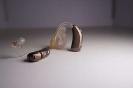 Hearing aid on white isolated background. Deaf ear aid. Reklamní fotografie - 115926879