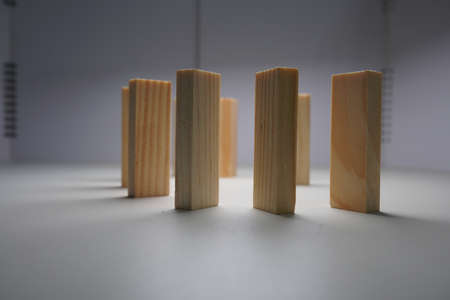 Wooden blocks, used for domino games. Stock fotó - 115929087