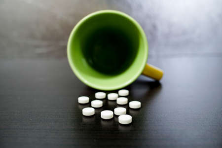 Close up on medicine. The imagery is about disease, health, drugs, nutrition.