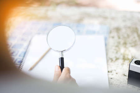 magnifying glass for reading and discovering the small things