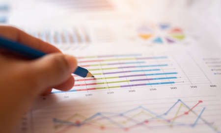 Drawing on the data for more insight stock photo