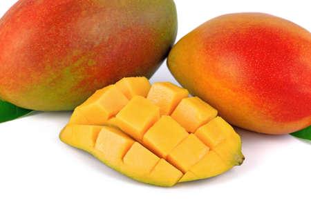 fresh mango fruit on white background