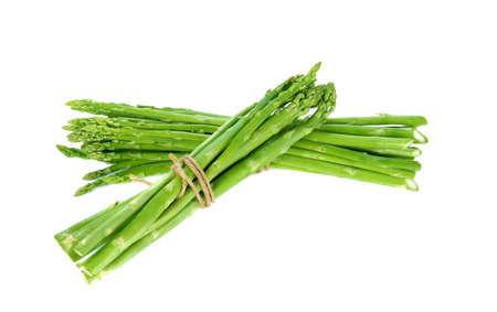 Fresh green asparagus on white background Stock Photo