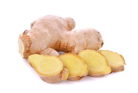 Fresh ginger isolated on white background Stock fotó
