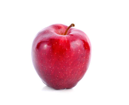 Red apple isolated on the white background
