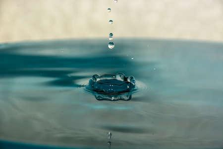 drop of clean blue water