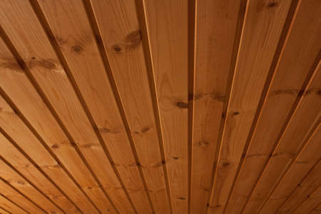 This is a picture  of wooden ceiling