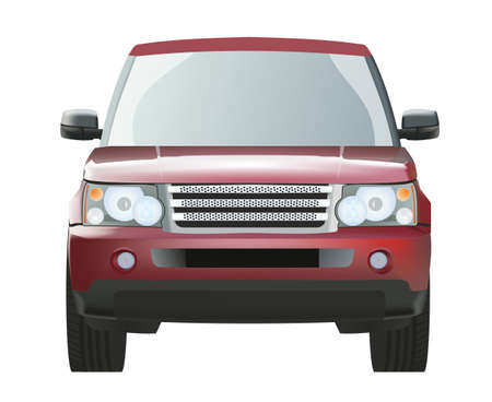 prestige car: Red expensive SUV in the vector