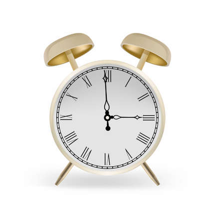 Vector alarm clock golden color Vector