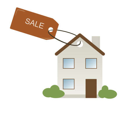 Painted House with a tag Sale Stock Vector - 14126782