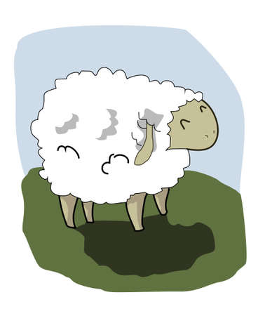 Cute lamb on the background Vector