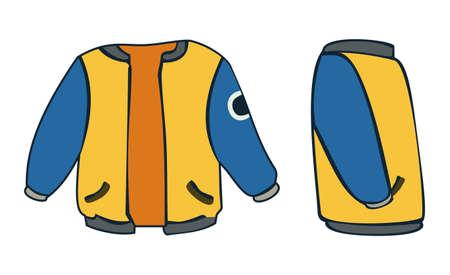 encapuchado: Chaqueta con capucha de color amarillo con rayas
